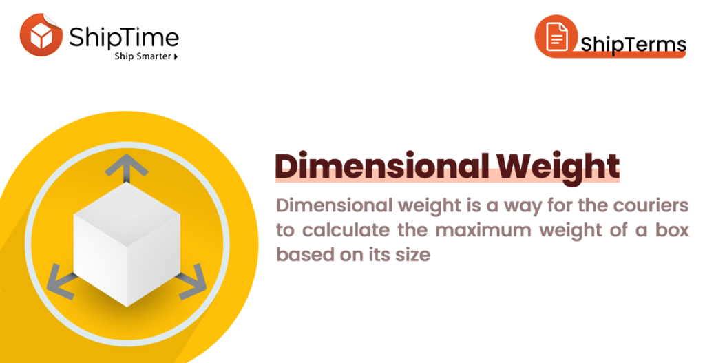 Shipping Terminology: Dimensional Weight
